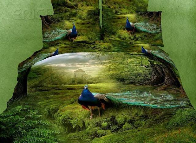 صور مفروشات ثلاثية الأبعاد 3D مرسومة بالحيوانات
