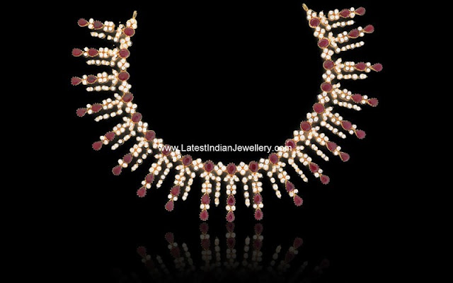 Ruby and Zircon Necklace