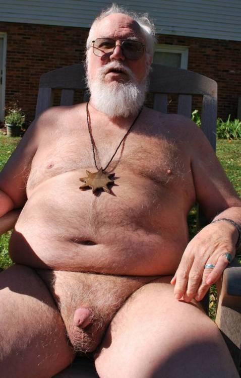 Naked Old Gay Silver Grandpa