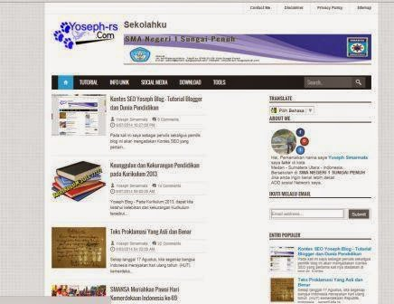 Yoseph Blog - Tutorial Blogger dan Dunia Pendidikan
