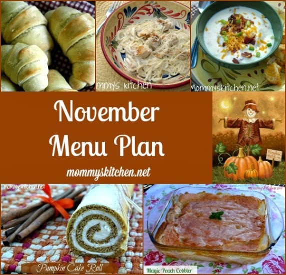 november menu - menu plan monthly