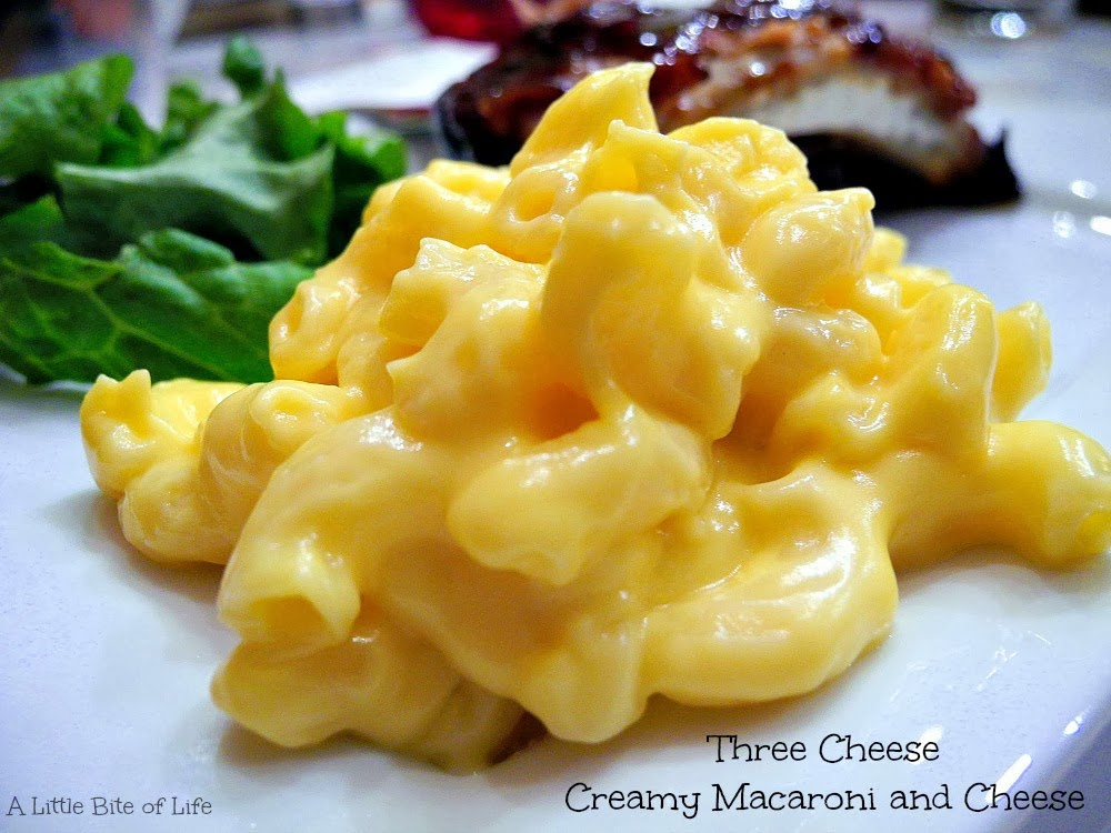 Three Cheese Creamy Macaroni and Cheese
