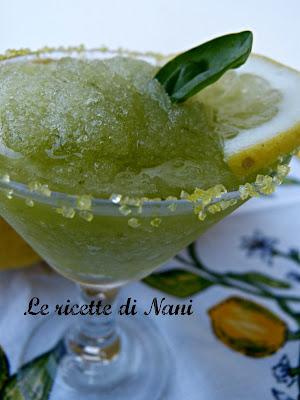 sorbetto al limone  e basilico senza gelatiera