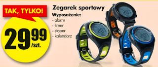 Zegarek sportowy z Biedronki ulotka
