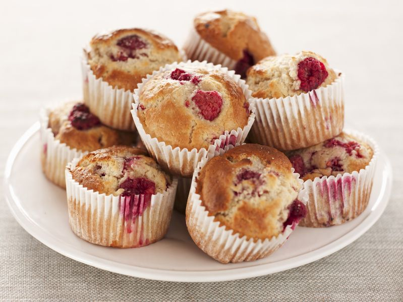 ... way to living the good life: Greek Yoghurt Raspberry Muffins