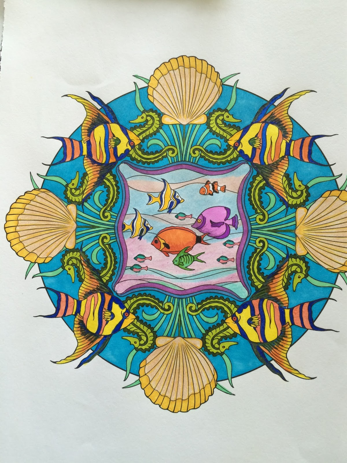 A Mandala Coloring Page Completed By The Jersey Grandpa