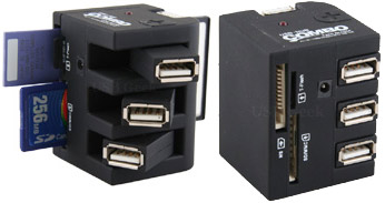Hub USB con lector de tarjetas all-in-one