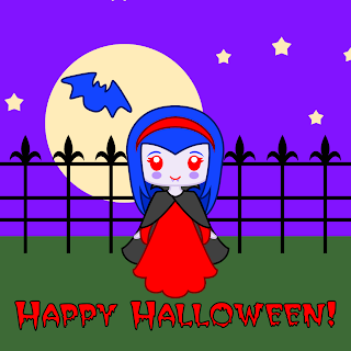 Cute Vampire- Halloween printables