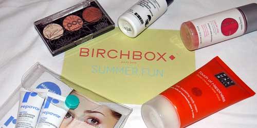 productos de belleza de la cajita birchbox julio 2015
