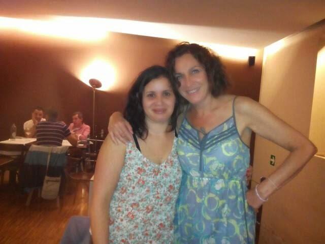 Con Anabel Cornago en Vigo