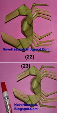 Cara Membuat Kepiting dari Daun Kelapa (Janur) 22