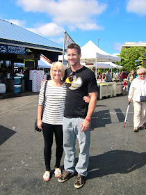 Me and Tanner at the Farmers Market