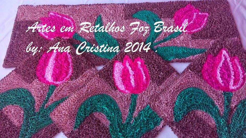 Arte Em Tapete De Retalho : ARTES EM RETALHOS FOZ BRASIL: tapetes de frufru