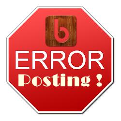 error setelah posting
