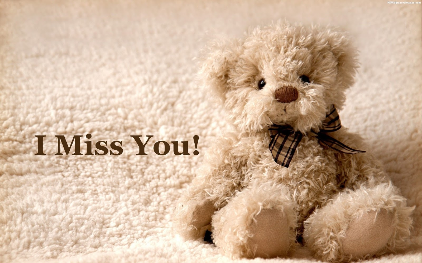 Cute Teddy I Miss You Wallpaper for Whatsapp