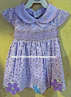 HT Purple Smocking Dress