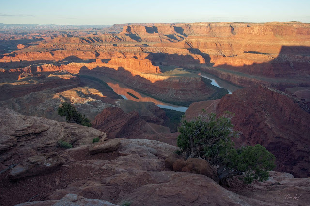 Dead Horse Point State Park at sunrise viewing the Colorado River overlook