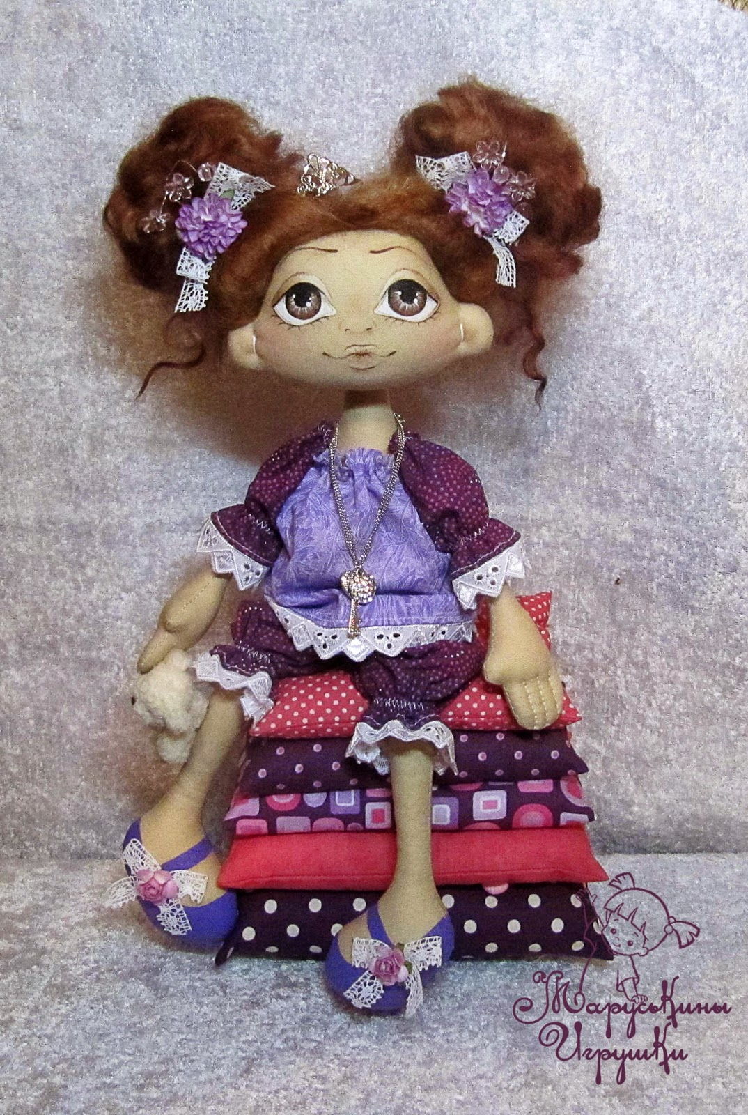 Текстильная куклы своими руками видео