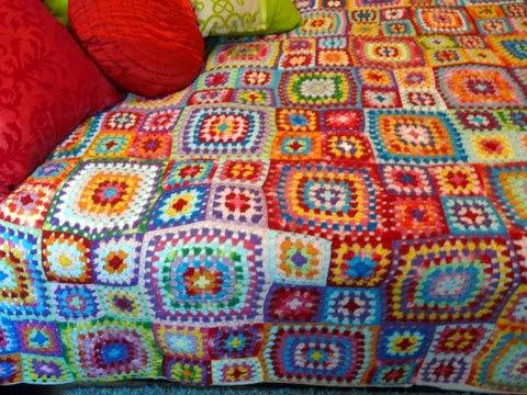 Al hilo y al l o colcha de ganchillo o crochet a - Aplicaciones de crochet para colchas ...