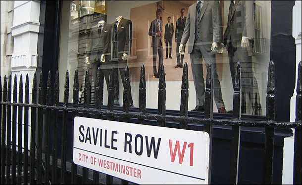 Savile Row Window Display