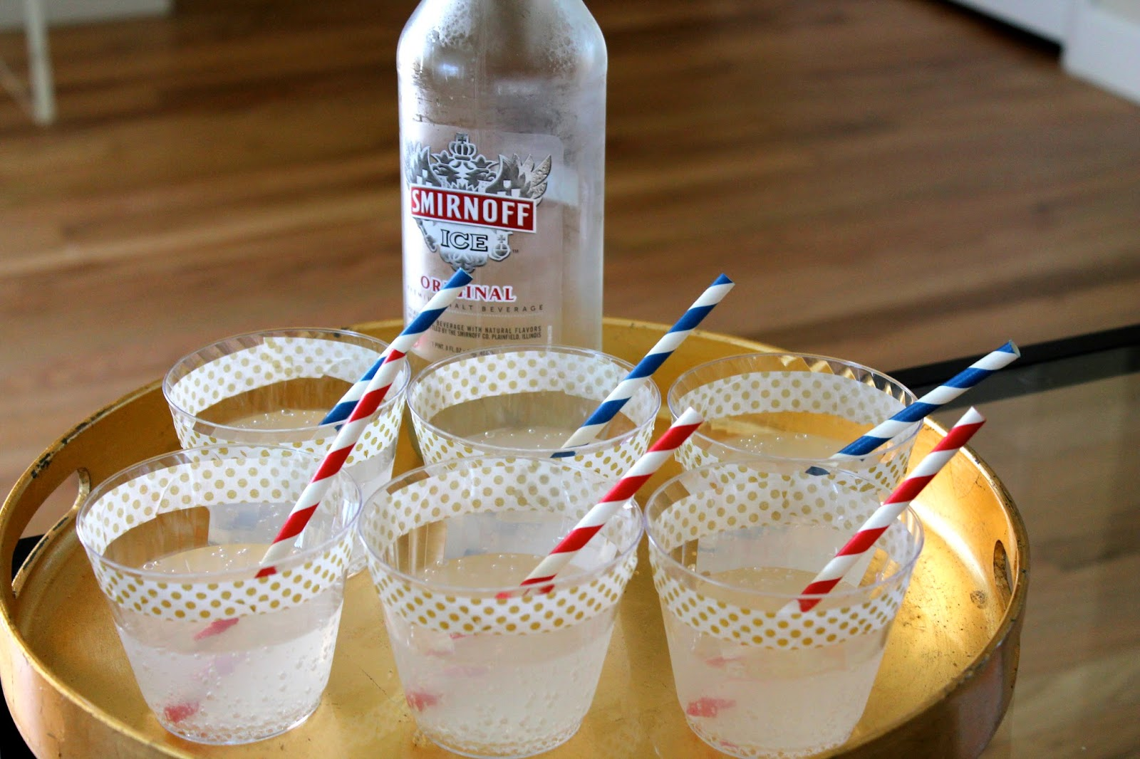 smirnoff ice, fourth of july, diy cups, party decor