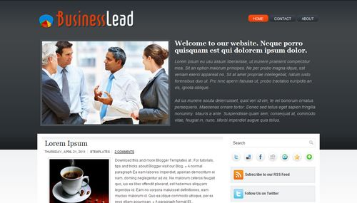 Business lead blogger template accmission Choice Image