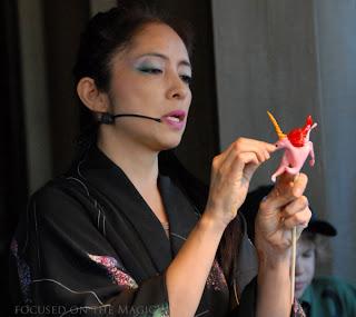 "Epcot's Japanese pavilion with ""The Candy Lady"",  Miyuki Sugimori."