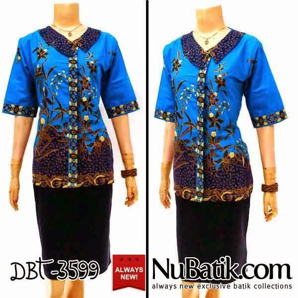 Jual Blus Batik Wanita Modern Model Blouse Batik Terbaru  Model
