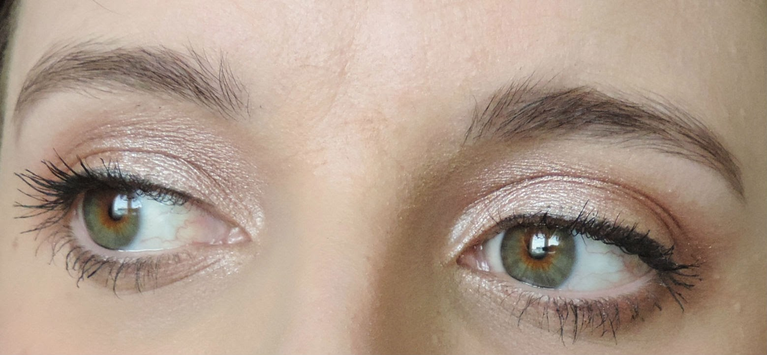 Makeup Geek Foiled Eyeshadows Applied - In The Spotlight & Grandstand