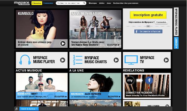 Myspace page 2012
