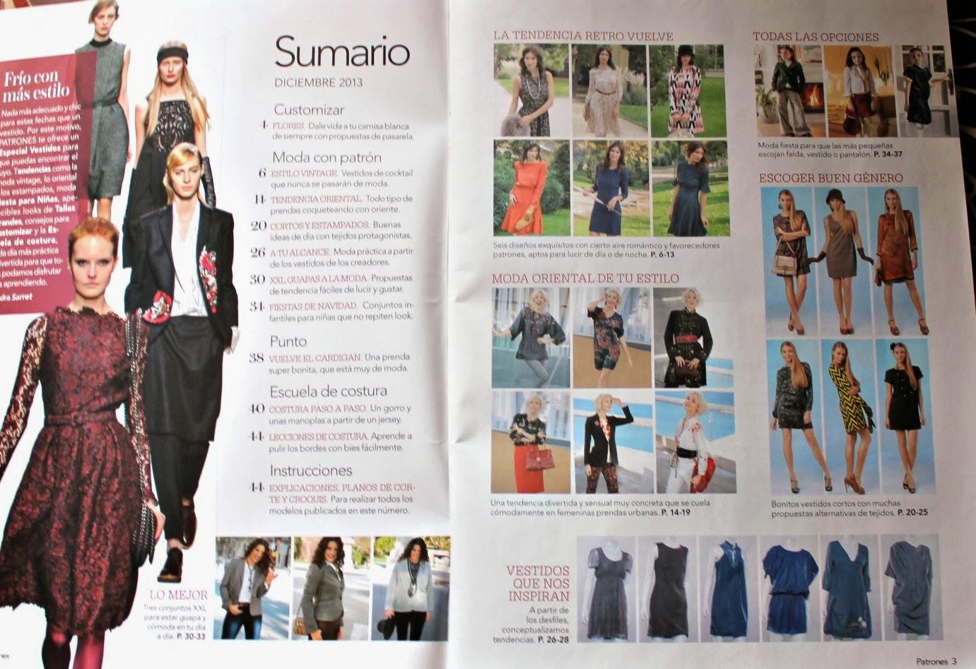 Aventuras de costuras: Revista Patrones. n.332