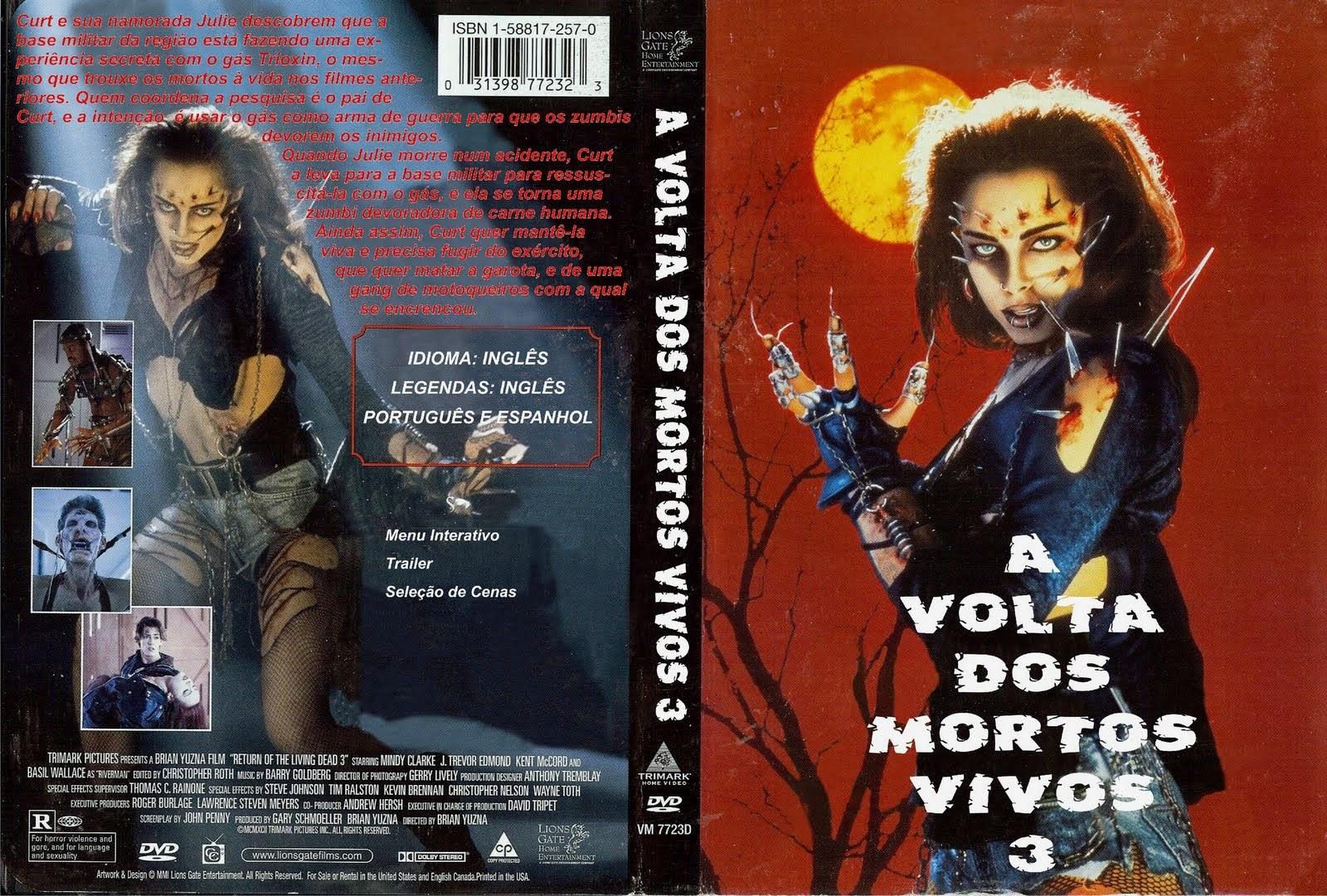 A Volta Dos Mortos Vivos 3 DVD Capa