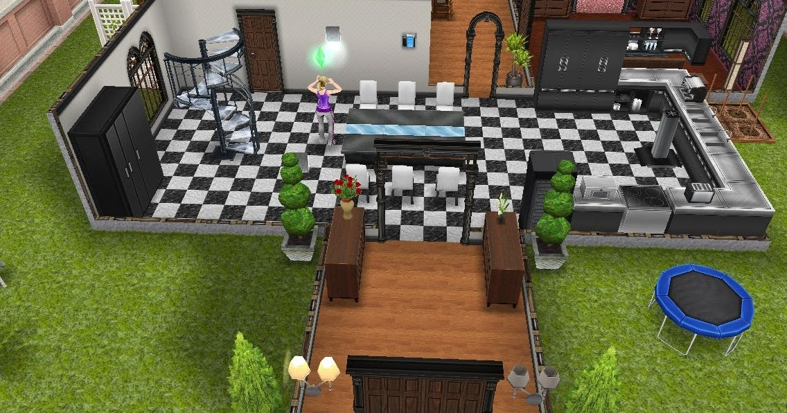 Los sims freeplay residencia premium mansion de dos plantas for Casa de diseno the sims freeplay