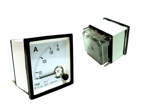TAB Ampere meter 72x72 via CT 150/5A