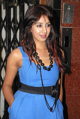 SANJANA LATEST STILLS In BLUE DRESS