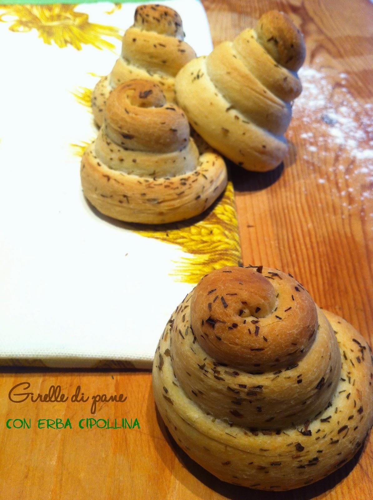 girelle di pane con erba cipollina