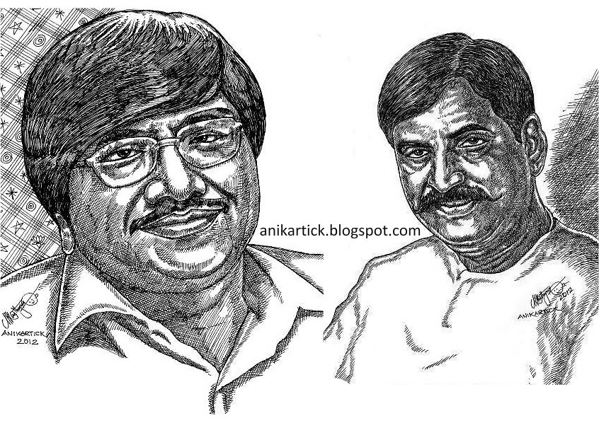 Line Drawing Portrait Artists : Portraits pen drawings line artist anikartick