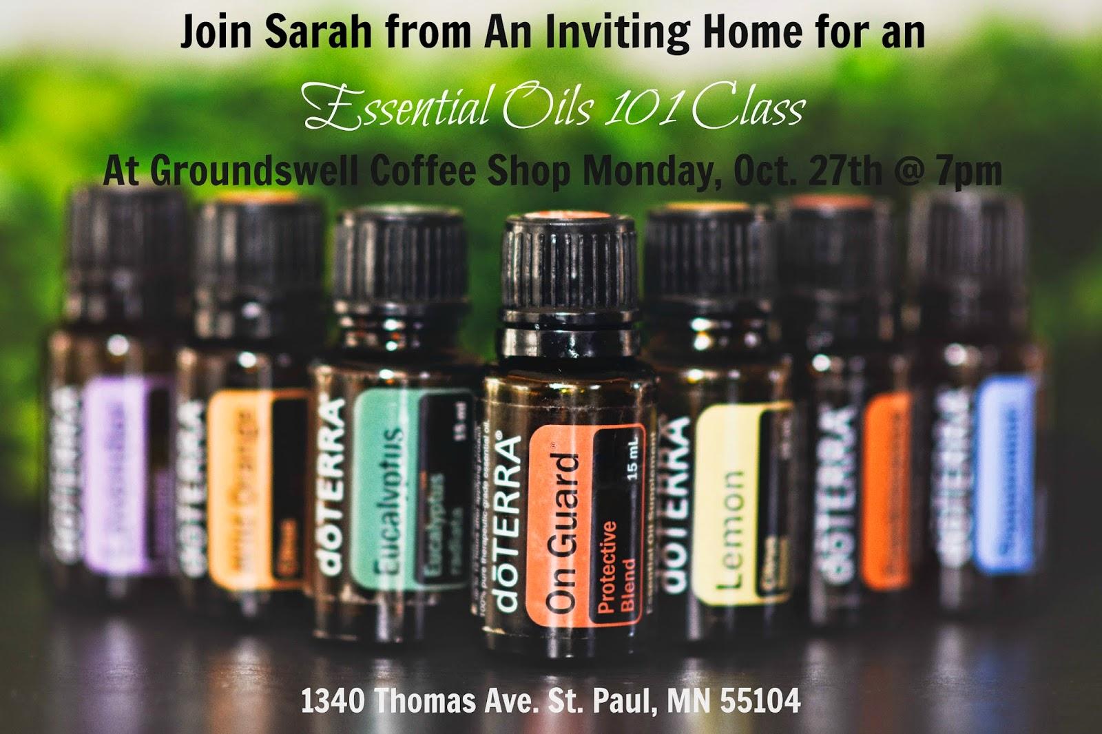 essential oils st. paul class