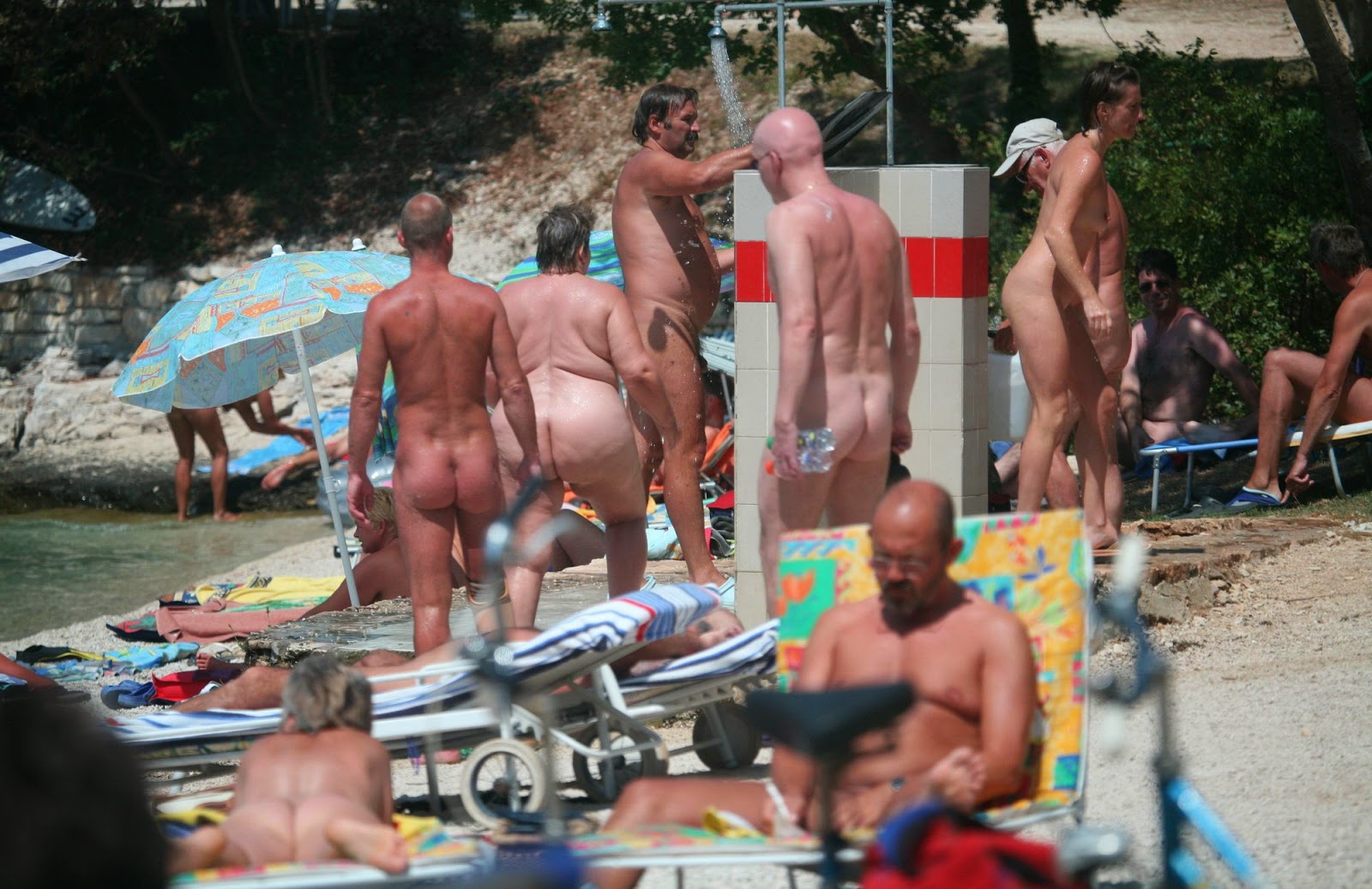 New Nudist Family Pics  Pool Shower and Spa Pure nudism