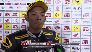 Gupita Kresna Juara Asia Road Racing Championship Underbone 130 cc Tahun 2015.
