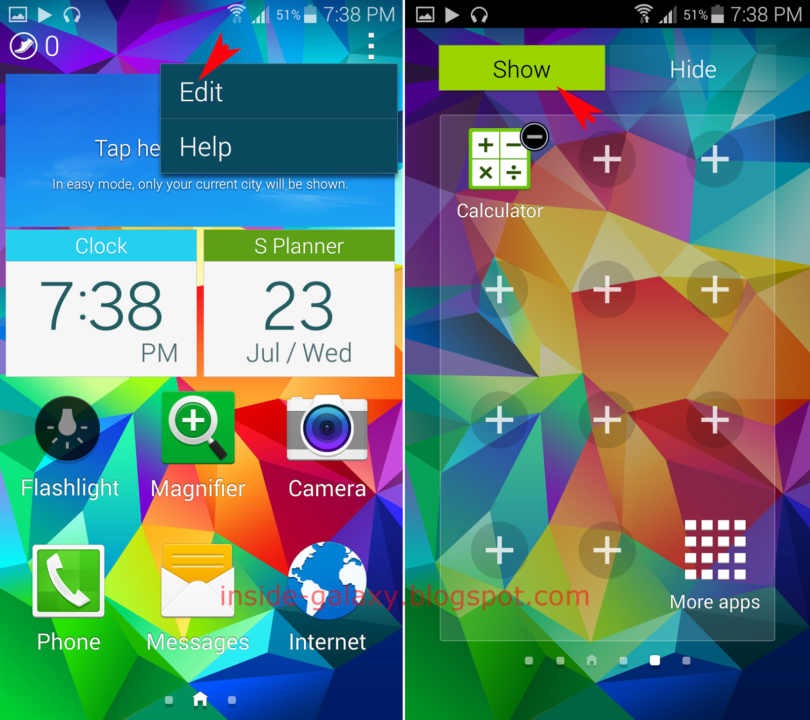 how to change the app icon on samsung galaxy s5