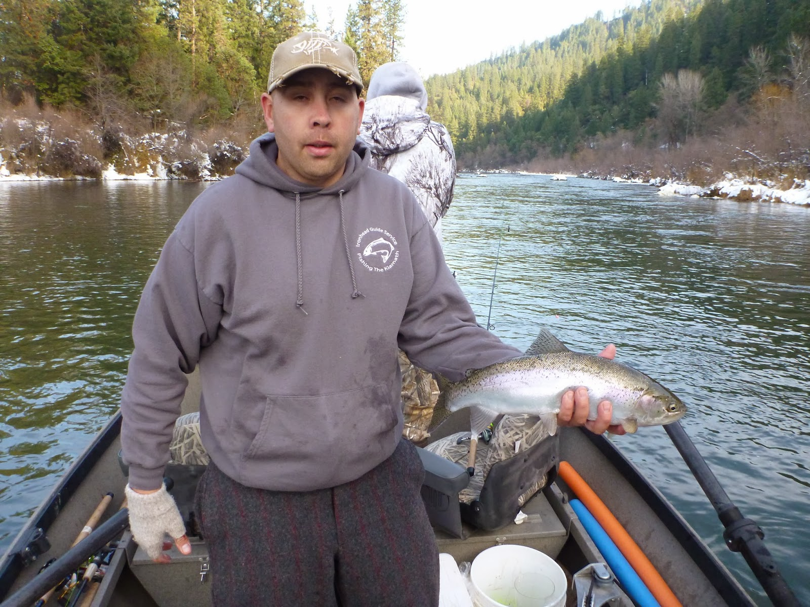 Steelhead fishing on the Klamath River with Ironhead Guide Service