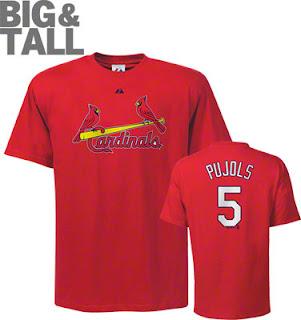 Big and Tall Albert Pujols St. Louis Cardinals T-Shirt Jersey