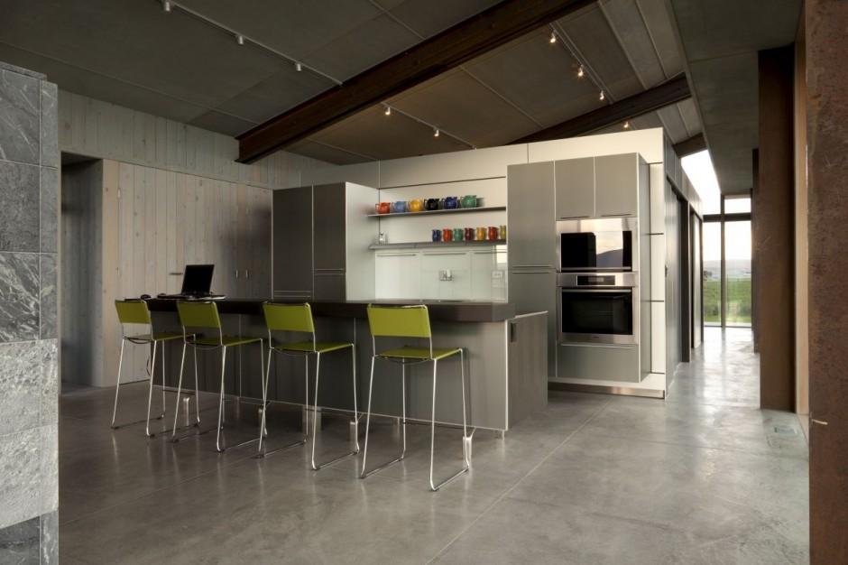 Casas minimalistas y modernas cocinas con desayunador for Cocinas modernas con desayunador