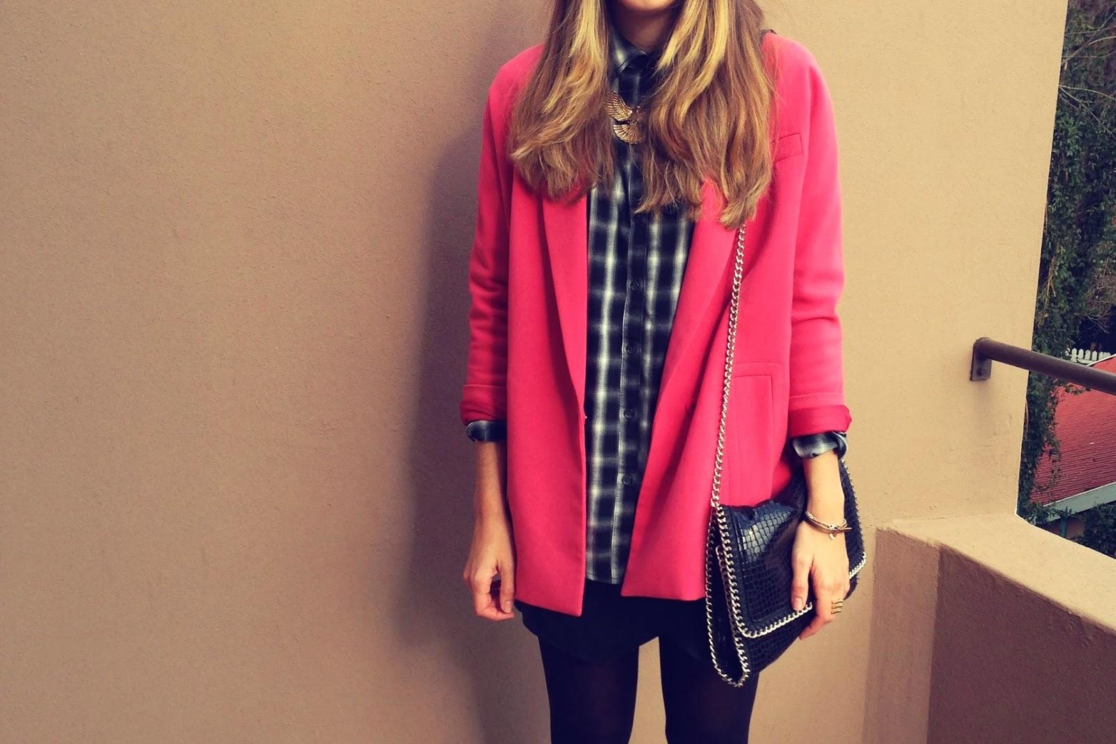 pink oversized blazer inside my closet