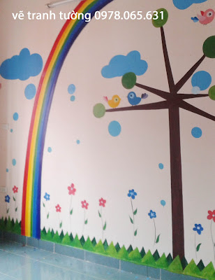 vẽ tranh tường,vẽ tranh tường phòng bé