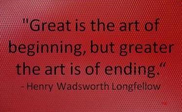 The Art of Ending!