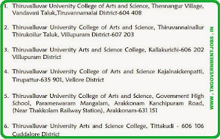 Thiruvalluvar University Recruitments [www.tngovernmentjobs.in]