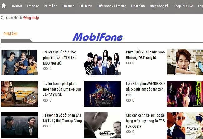 Giải trí thoải mái với dịch vụ Clip360 của Mobifone