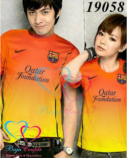 baju couple bola barcelona